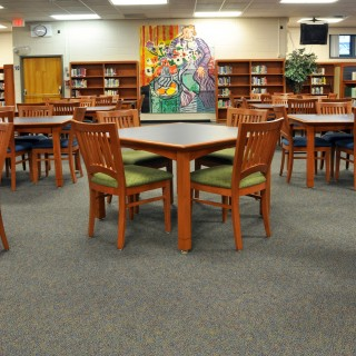 Tesco library tables & Jasper Chair seating
