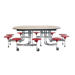 Biofit oval cafeteria table