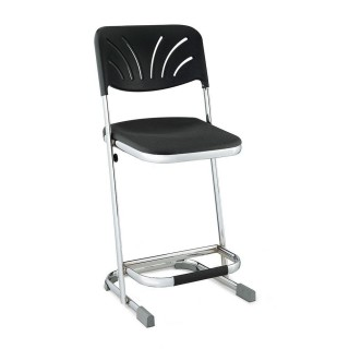 "Science ""Z"" stool with back"